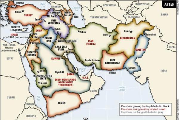 Balkanmagazin Mapa Bliskog Istoka Pred Promenama