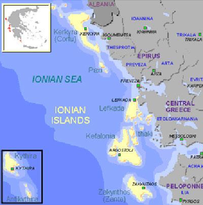 ostrvo krf mapa BalkanMagazin :: JONSKA OSTRVA – KRF (1) ostrvo krf mapa