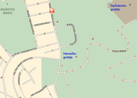 topcidersko groblje beograd mapa BalkanMagazin :: NEMAČKO GROBLJE NEKAD I SAD topcidersko groblje beograd mapa