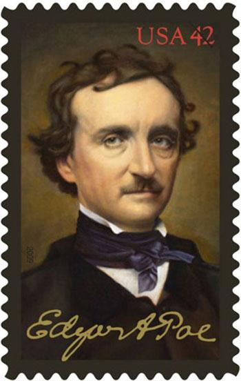 Edgar Alan Po Poe-post-marka-ilu